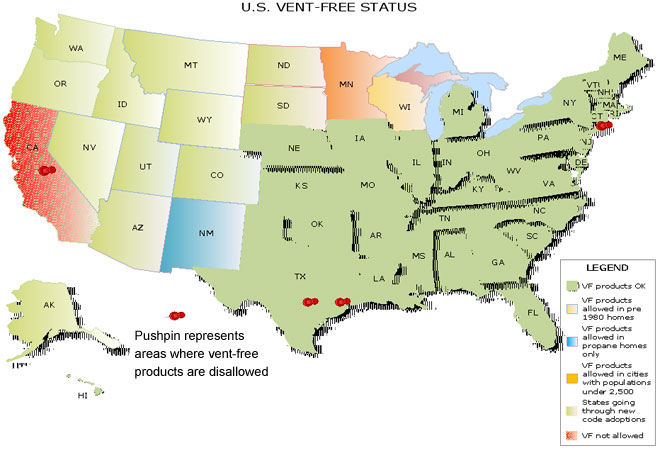 Vent-Free Products By State