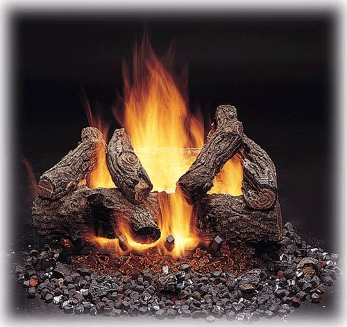 Monessen American Oak Vented Gas Logs with Concentric Safety Pilot - 18, 24 or 30 inch - Natural Gas or Propane