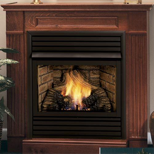 Symphony 32 inch Vent Free Gas Fireplace - Remote Ready - with Wall Surround and Hearth