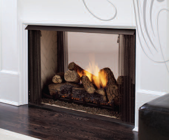 Monessen Ventless See Thru Firebox By Ventless Gas