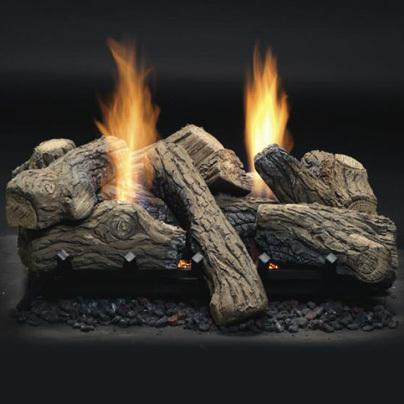 Monessen Natural Blaze See-Thru Vent Free Gas Logs - Remote Ready - 27 inch - Natural Gas
