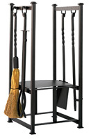 Olde World Log Rack with Tools