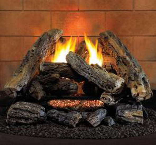 HearthSense A-2 Ventless Gas Logs - Remote Ready - 18 or 24 inch - Natural Gas