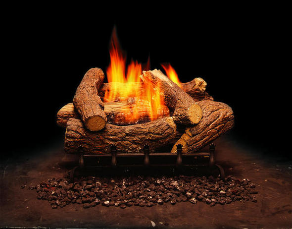 Monessen Mountain Cedar Ventless Gas Logs - Manual Control - 18 or 24 inch - Natural Gas
