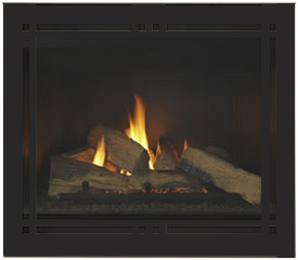 Majestic Meridian Platinum 36 Direct Vent Gas Fireplace w/ Remote Control - Natural Gas Only