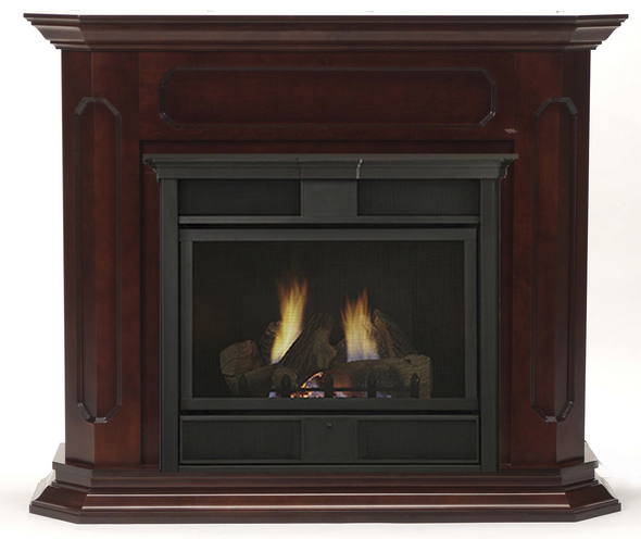 Monessen Barrington 300 Wall Surround & Hearth - Dark Walnut Finish Only - for Symphony 24 Series