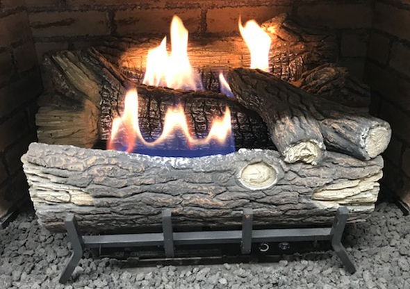 Monessen Mountain Oak Ventless Gas Logs - Manual Control - 18 inch - Propane