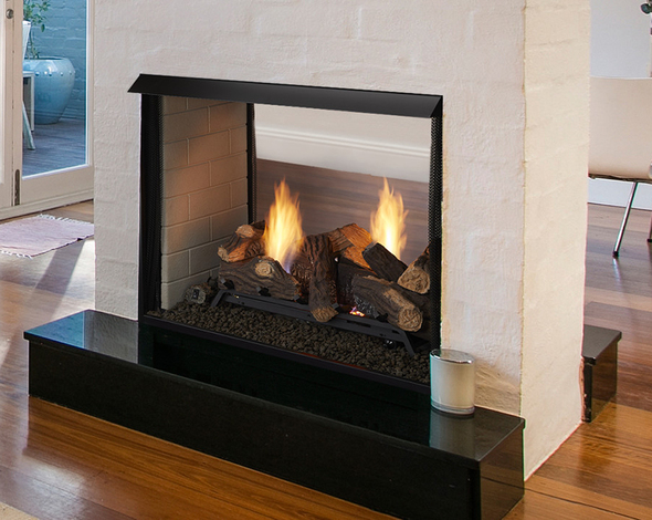 Monessen Ventless See-Thru Firebox