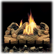 Monessen Charred Hickory Ventless Gas Logs - Manual Control - 24 inch - Natural Gas