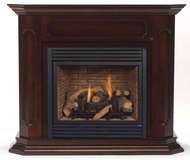 Monessen Barrington Wall Surround & Hearth Only - Dark Walnut Finish Only - for HBDV Series