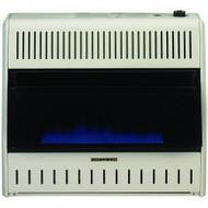 ProCom Large Ventless Blue Flame Gas Space Heater - Thermostat Control - Dual Fuel