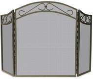 3 Fold Bronze Finish Wrought Iron Screen