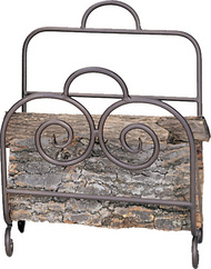 One-Piece Bronze Finish Wood Basket