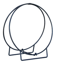 "36"" Diameter Log Hoop - Black Finish"