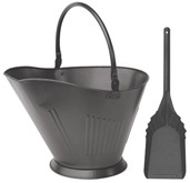 Olde World Iron Finish Coal Hod and Shovel