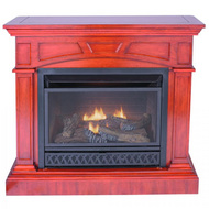 ProCom Jefferson Ventless Gas Fireplace - Dual Use Surround - Thermostat Control - Natural Gas or Propane