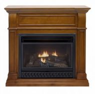 ProCom Apple Spice Ventless Gas Fireplace - Dual Use Surround - Thermostat Control - Natural Gas or Propane