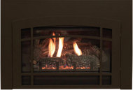 White Mountain Traditional Large Direct Vent Gas Insert with Lancaster Front - Remote Ready - Natural Gas Only