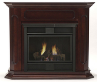 Chesapeake 32 inch Vent Free Gas Fireplace - Remote Ready - with Wall Surround and Hearth