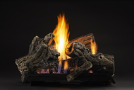 Monessen Mojo Ventless Gas Logs w/ Thermostat Remote - 22 or 27 inch - Natural Gas