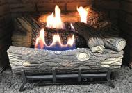 Monessen Mountain Oak Ventless Gas Logs - Manual Control - 18 inch - Natural Gas