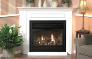 Tahoe Premium 36 Direct Vent Gas Fireplace (Remote Ready) with Hearth and Corner Surround