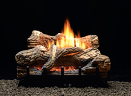 White Mountain Flint Hill Ventless Gas Logs - Remote Ready - 18 or 24 inch - Natural Gas